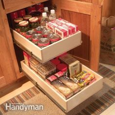Organize Kitchen Storage With Kitchen Cabinet Rollouts