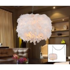 The Light Glows From Soft Feathers And Radiates Sparkling Crystals Creating An Almost Magical Feel