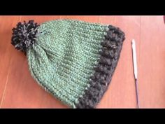 ▶ how to crochet ribbing on loom knit hat - YouTube
