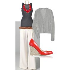 A fashion look from September 2011 featuring green top, American Vintage and blue shirt. Browse and shop related looks. Fall Outfits, Summer Outfits, Cute Outfits, White Jeans Outfit, White Pants, Look Office, Spring Summer Fashion, Spring Style, Suits For Women