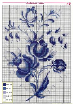 Embroidery patterns in one color scheme 0 Cross Stitch Rose, Cross Stitch Flowers, Cross Stitch Charts, Cross Stitch Designs, Cross Stitch Patterns, Russian Cross Stitch, Loom Patterns, Cross Stitching, Cross Stitch Embroidery