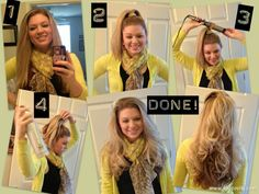 The best way to curl your hair! I do it all the time and it takes less than 10 minutes! (Works better if you blow dry your hair first)