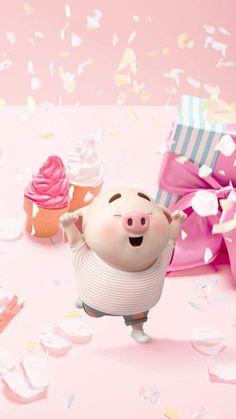 Wallpaper Fofos, Pig Wallpaper, Snoopy Wallpaper, Mickey Mouse Wallpaper, Funny Phone Wallpaper, Disney Wallpaper, This Little Piggy, Little Pigs, Kawaii Pig
