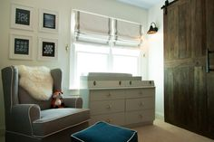 SO much DIY here. For instance, the barn door is a table top! WOW.