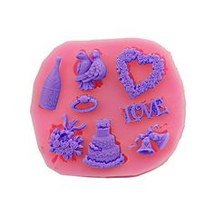 Baidercor Love Flower Silicone Chocolate Candy Molds Christmas Decor Set of 3