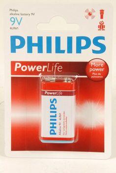 Philips Power Alkaline Batterijen (9V 6LR61)