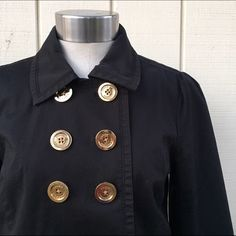 Juicy couture black trench Super chic black trench coat by juicy couture. Must have staple! Great condition. Petite small Juicy Couture Jackets & Coats Trench Coats