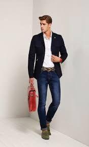 Resultado de imagem para mens green jeans blazer