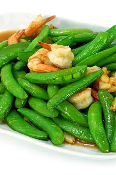 Weight Watchers Kung Pao Shrimp Recipe with Chicken Broth, Balsamic Vinegar, Soy Sauce, Garlic, Ginger, Red Pepper Flakes, Sugar Snap Peas, and Green Onion
