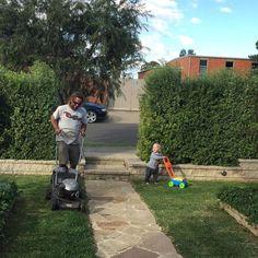 by ez0406 Lawn Mower, Outdoor Power Equipment, Fabrics, Instagram, Lawn Edger, Tejidos, Grass Cutter, Garden Tools, Cloths