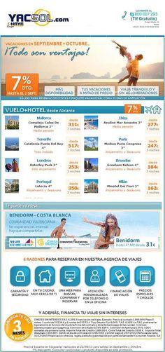 ¿tienes unos días libres en septiembre por la feria de Yecla ? ¿te apetece una escapada? pues visita nuestra webwww.yacsol.com y Haya travel,disfrutando de nuestras ofertas para este mes de septiembre !!!
