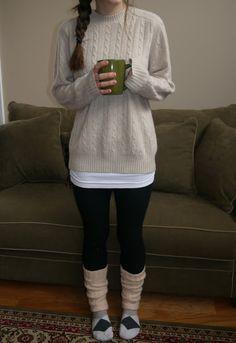 The Chunky Sweater. True SAHM style.