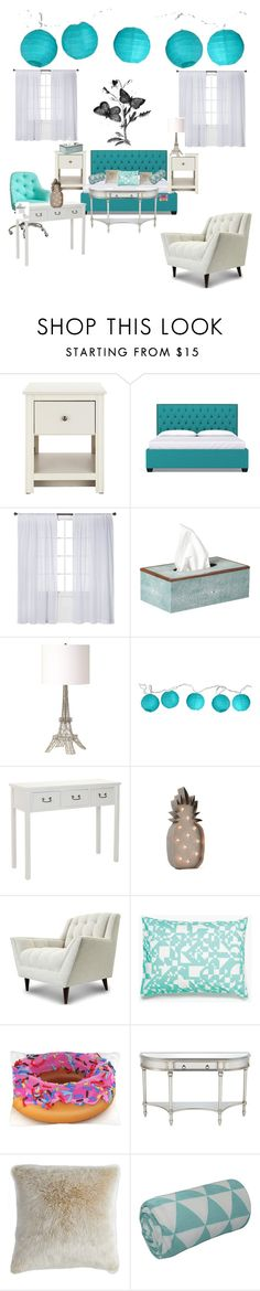 """""""bedroom"""" by lucia-cal-rodriguez ❤ liked on Polyvore featuring Nate Berkus, OKA, Renwil, Room Essentials, Safavieh, Thrive, Anja, Unison, Universal Lighting and Decor and bedroom"""