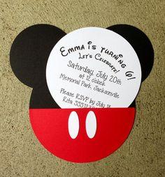Disney Character Invitations
