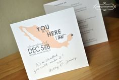 Tri-Fold Itinerary Booklet Card Destination by Interprintations - For the welcome bags