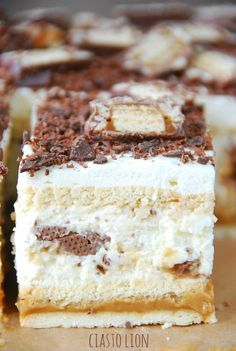 Ciasto Lion Składniki na spód: duże opakowanie herbat… na Stylowi.pl Dessert Cake Recipes, Sweet Desserts, No Bake Desserts, Just Desserts, Sweet Recipes, Polish Desserts, Polish Recipes, Pastry Cake, Homemade Cakes