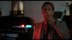 James Woods taking a break before he gets wired and executes a serial killer with a shotgun as Lloyd Hopkins in Cop