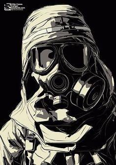 Graffiti Wallpaper, Graffiti Art, Gas Mask Drawing, Gas Mask Girl, Templer, Masks Art, Mad Max, Military Art, Character Art