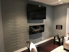 Maxwell Gallery - Decorative 3D Wall Panels by WallDecor3D This will be applied to the back of the bar and painted Gray Cashmere, our accent color