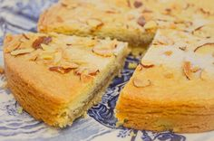 Almond Butter Cake (or in Dutch, Boter Koek), is a buttery tort pastry with almond filling, butter, and honey baked into a golden round cake. Sliced almonds and sugar crystals are sprinkled on top. It is so rich and delicious it may be difficult to stop after your first small bite. $9.25 #almondcake