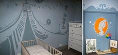 decorazione pittorica per una camera di una bambino  - tema circo  - painted decoration to a room of a baby - circus