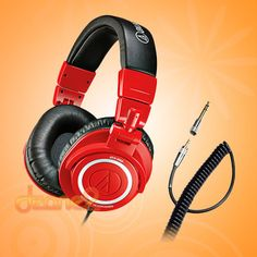 Audio Techica ATH-M50 Studio Monitor Headphones RED Limited Edition ATH-M50RD
