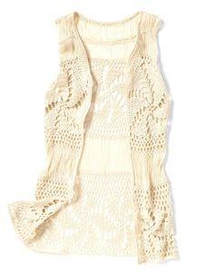 Smart Set crochet vest
