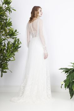 Romantic, picturesque lace wedding dress with bouffant sleeves and lace mix top Wedding Attire, Wedding Gowns, Divine Atelier, Bridal, Justine, Bohemian, Romantic, Couture, Chic