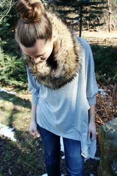 I have a sweater dress with a faux fur collar... mabes it's time to try and rock it?