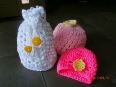 Tracy's Crochet Bliss: Newborn Hats Gift Set