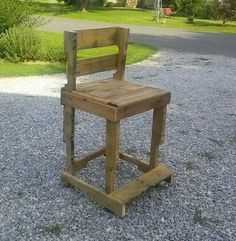 Old pallet bar stool..