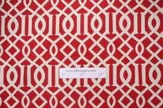 Richloom / John Wolf Kirkwood Printed Polyester Outdoor Fabric in Cherry $8.95 per yard