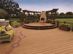 See creative applications of Trex materials that will fuel your ideas for your own deck designs. See how others have mixed colors, created deck inlays, benches, planters and more. Outdoor Living Areas, Outdoor Rooms, Outdoor Decor, Outdoor Ideas, Outdoor Kitchens, Outdoor Landscaping, Outdoor Projects, Living Spaces, Patio Deck Designs