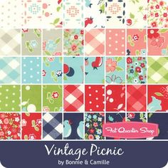 Vintage Picnic Jolly Bar® ReservationBonnie & Camille for Moda Fabrics  - Jolly Bars  | Fat Quarter Shop