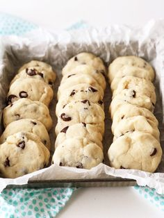 These Condensed Milk Chocolate Chip Cookies taste like a shortbread cookie crossed with a chocolate chip cookie. This recipe is a great way to use up leftover sweetened condensed milk. Condensed Milk Desserts, Condensed Milk Cookies, Sweet Condensed Milk, Recipes With Condensed Milk, Condensed Milk Biscuits, Recipes With Milk, Recipes With Chocolate Chips, Milk Chocolate Chip Cookies, Chocolate Chip Biscuits