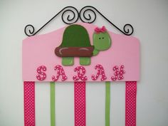 hair bow holders for little girls | Pink Turtle Bow Holder - Organize Your Little Girls Hair Accessories ...