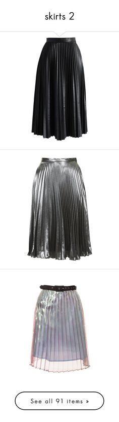 """""""skirts 2"""" by sworn-in ❤ liked on Polyvore featuring skirts, bottoms, midi skirt, black, knee length pleated skirt, vegan leather skirt, black midi skirt, pleated midi skirt, vegan leather midi skirt et topshop"""