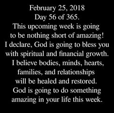 This weak or not know that EVERYTHING will happen at the PERFECT time even if u wait kinda long but ask for joy from God and focus on your future so you would be occupied