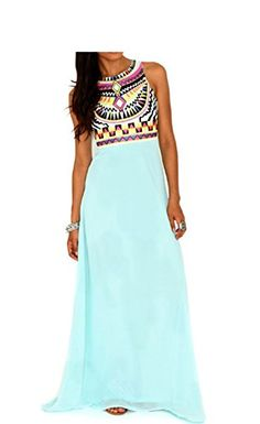 Women's Boho Sleeveless Long Summer Maxi Chiffon Sexy Evening Party Beach Dress (S, Blue) Sweetzhq http://www.amazon.com/dp/B00ZUMX0ZA/ref=cm_sw_r_pi_dp_qbbYvb1M1E4SV