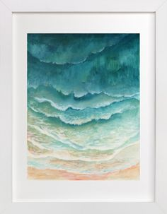 Ombre Waves by Honeybunch Studio at minted.com