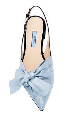 M'O Exclusive: Ballerina Slingback Flat by PRADA Now Available on Moda Operandi Look Fashion, Fashion Shoes, Women's Shoes Sandals, Shoe Boots, Sport Sandals, Slingback Flats, Prada Shoes, Beautiful Shoes, Shoe Brands