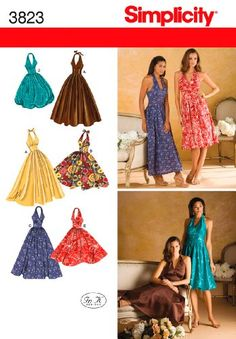 Simplicity Sewing Pattern 3823 Misses Dresses, « Dress Adds Everyday
