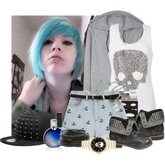 Designer Clothes, Shoes & Bags for Women Scene Outfits, Emo Outfits, Grunge Outfits, Emo Fashion, Luxury Fashion, Emo Clothes, Emo Style, Pastel Goth, Types Of Fashion Styles