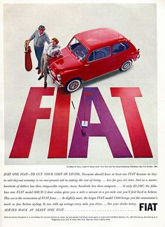 1961 Fiat Advertising Car and Driver October 1961 | Flickr - Photo Sharing!