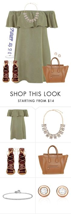 """d is for diamonds"" by kaley-ii ❤ liked on Polyvore featuring Topshop, Chicnova Fashion, Isabel Marant, CÉLINE and Blue Nile"