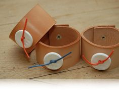 DIY leather bracelet cuff bands