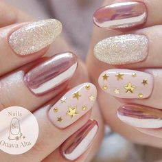 If you want to feel like a star – why not to start with your nails? Starry patterns are extremely dreamy and fascinating. These days there are many various techniques to create a manicure with star design.Check all of it in our new post. #nails #nailart #naildesign