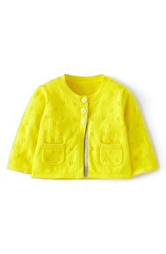 Mini Boden Pointelle Cardigan (Baby Girls) available at #Nordstrom