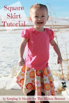 Square Skirt Tutorial - So easy and cute for girls! {The Ribbon Retreat Blog}
