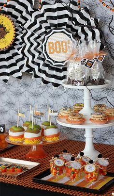 table/food arrangement